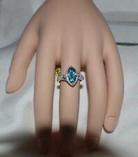 GLAMOROUS 2.28 CTTW GENUINE BLUE TOPAZ    COCKTAIL RING