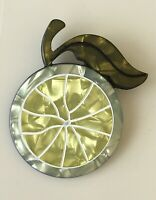 Unique  Lemon slice  Pin Brooch In acrylic