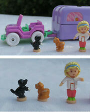 Mini Polly Pocket Pet Surgery alle Figuren Auto Krankenwagen für Tiere