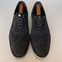 The Lisbon Walker Blue Suede Wingtip Oxford Shoes Mens Size 11 (EU 42)