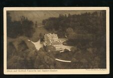 Zeppelin Balloon dirigible ON BOARD PPC of Baden-Baden Home c1930s PPC