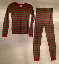 Youth Hanna Andersson Christmas Pajamas Size 14/ Red & Green Stripe