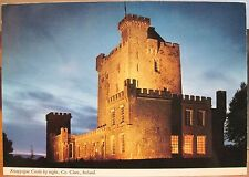 Irish Postcard Knappogue Castle by Night County Clare Ireland John Hinde 2/333