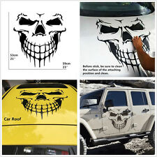 1pc Car SUV Body Side Rear Roof Black Skull Skeleton Large Graphics Vinyl Decal