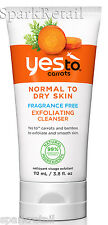 Yes To Carrots Organic Fragrance Free Exfoliating CLEANSER 110ml Face Wash