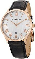 Alexander A103-04 Statesman Triumph Men's Rose Gold Plated Swiss Leather Watch