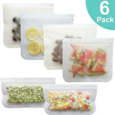 S,M,L Reusable- Silicone Food Storage BAGS,ZipLock, Snack ,Freezer- 1/6 PCS