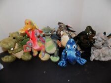 "Mgic  plush  Dragon lot of 7 Stuffed Animal  7"" Limited Edition some w tags"