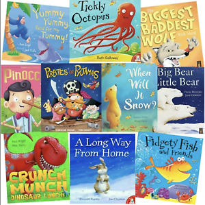 Children's Fiction Picture Books Bundle of 10 Large books Used - Wholesale Price