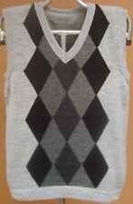 NEW, 100% ALPACA WOOL MEN´S VEST, M SIZE, SOFT, GRAY COLOR, ANDEAN, WARM, SOFT d