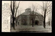 1911 High School building Fairfield Illinois postcard
