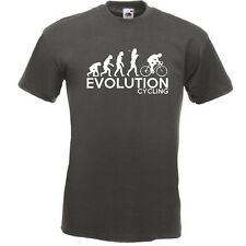 CYCLING Evolution Of Man Mens Funny Cyclists Bicycle Bike T Shirt Tee Top Gift