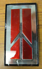 "Oldsmobile Emblem Silver Red And Black 1.5""x3"""
