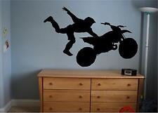 Motorcycle vinyl decal/sticker wall art summer dirtbike sports 16.5x22 boys room
