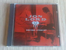 JON LORD (DEEP PURPLE) - BEFORE I FORGET - RARO CD