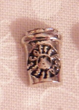 Coffee Cup Floating Locket Charm - Silver-tone - NEW
