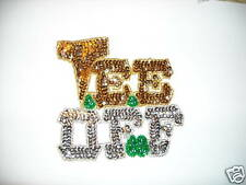 TEE OFF SEQUIN & BEADED APPLIQUE SET OF 5