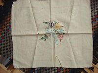 "Antique Embroidered Pillow Top BIRD & FLORAL DESIGN 16"" x18"""