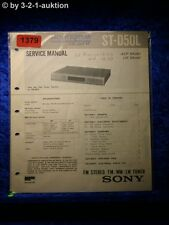 Sony Service Manual ST D50L Tuner  (#1379)