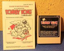 Atari 2600 Cart and Manual: Donkey Kong By Nintendo