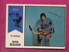 RARE 1974-75 OPC WHA # 11 JETS NORM BEAUDIN EX CARD  (INV#5211)
