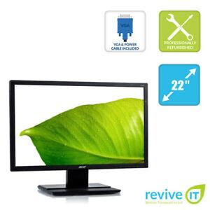 "Acer V226WL 22"" Widescreen LED LCD Monitor 1680x1050 16:10 VGA DVI Grade B"