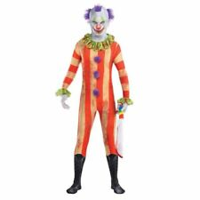 Mens Clown Partysuit Circus Halloween Costume Fancy Dress Outfit Large Size