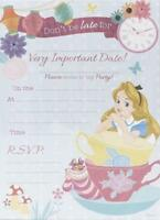 ALICE IN WONDERLAND PACK OF 20 PARTY INVITATIONS DISNEY NEW GIFT