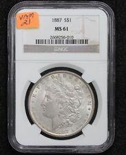 1887 Morgan Dollar VAM-21 NGC MS-61 1IB8
