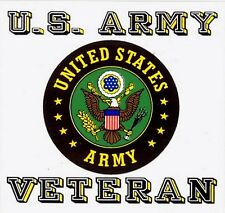 Army Veteran with Classic Crest Decal Sticker