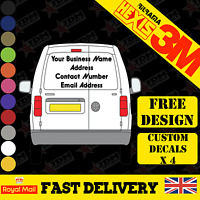 SMALL CUSTOM VAN VEHICLE GRAPHICS SIGN WRITING KIT DECALS LETTERING STICKERS