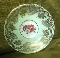 Paragon Pale Green Saucer with Floral Bouquet Center and Gold Trim