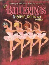 Vintage 1967 Ballerinas Paper Doll Laser Reproduction~Orig Sze UncuT Free S&H