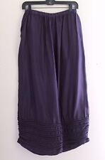 Krista Larson -O/S- Purple Funky Garden Party Pleated Bloomers Pants Trousers