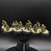 Well Painted 28mm Bolt Action German infantry 10 man squad 2 (winter) ww2
