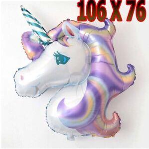 Giant Unicorn Foil Balloon Birthday Party Magical Decoration Girls PURPLE