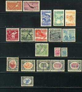 1948-49-50   REP.NICARAGUA  stamps  LOT.  {19}