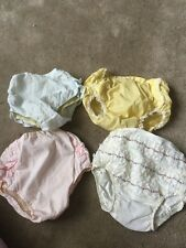 Vintage Baby Girl Diaper Covers Lace Plastic Cloth