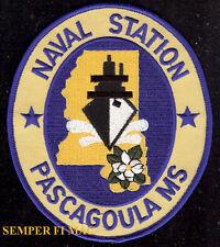 NAS PASCAGOULA MS PATCH US NAVY NAVAL AIR STATION PIN UP USS TOP GUN BASE GIFT