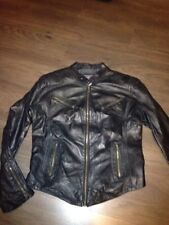 "Aviatrix Italian Vintage Shiny Leather Biker Jacket 42"" Chest 36"" W Vgc"