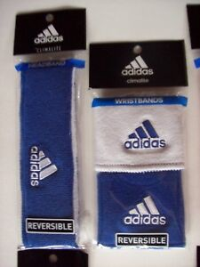 Adidas Headband Wristband Set Reversible Running Workout Sport Team New