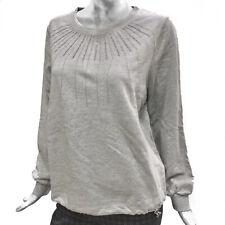 Caractere Felpa Donna Maglia in Felpa Grigio Cotone Sweater Maglione Sportiva