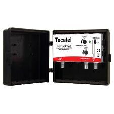 AMPLIFICADOR  TECATEL LTE403F FM + UHF + BANDA III + DAB 40dB  con filtro LTE