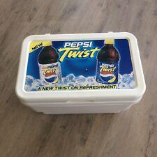 Vintage diet PEPSI Cola TWIST Cooler Ice Chest Plastic 2001 Advertising Sign