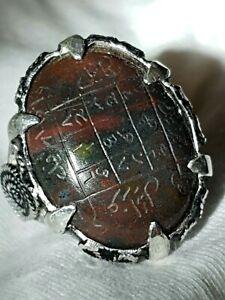 NATURAL blood stone (GAZALI)  RING خاتم حجر الدم اليماني بمثلث الغزالي