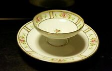 Vtg Nippon Dish * Pink Wildflowers * Tea Room * Cheese Spread & Cracker Server
