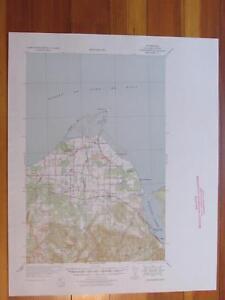Dungeness Washington 1939 Original Vintage USGS Topo Map