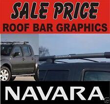 2 x Nissan Navara pick up roof bar decals