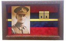 Large Royal Artillery Medal Display Case With Photograph For 3 - 4 Medals