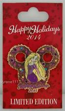 DISNEY HAPPY HOLIDAYS 2014 RAPUNZEL CHRISTMAS WREATH PIN LE 4000 TANGLED